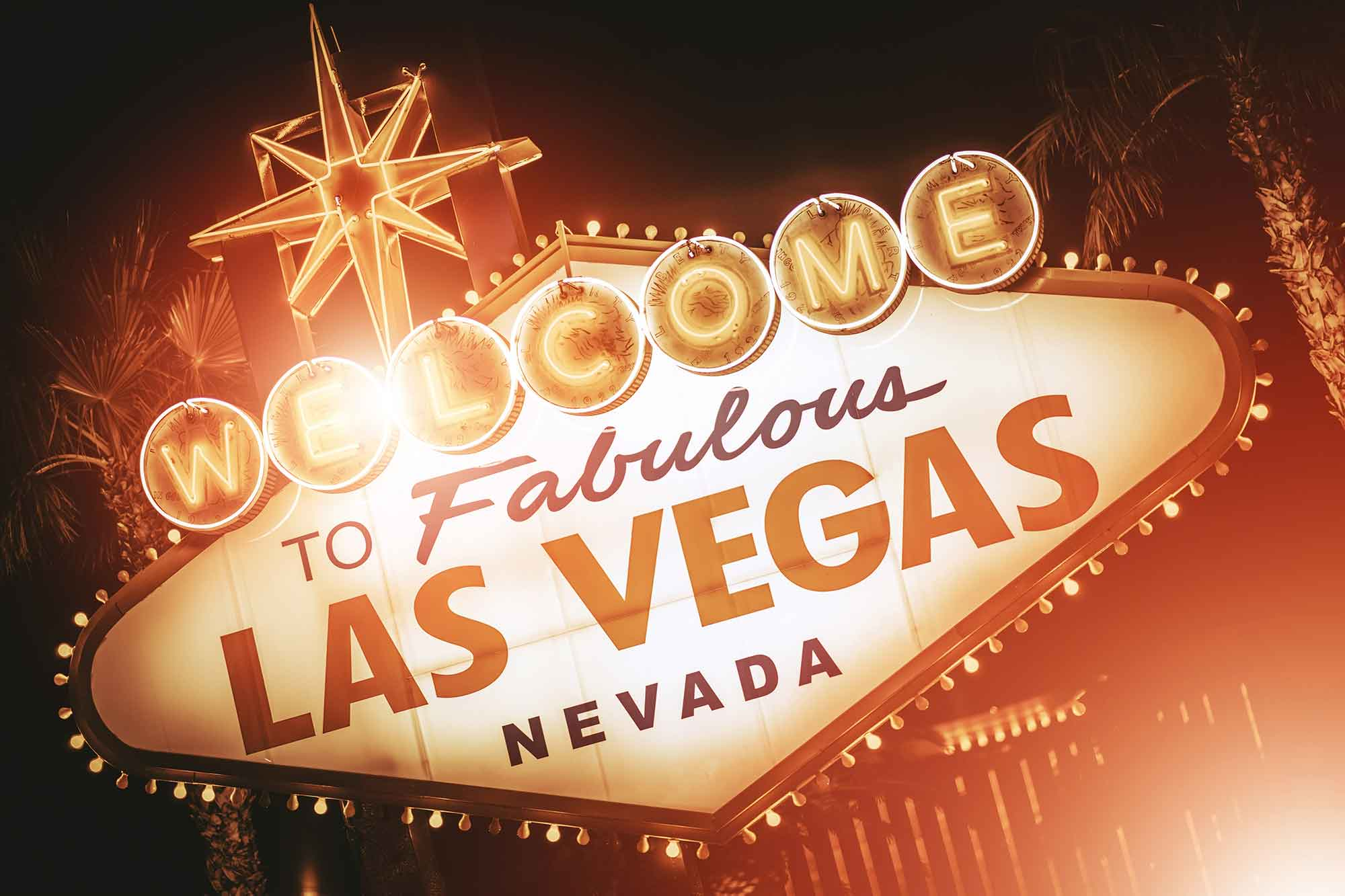 A picture of the welcome to Las Vegas sign.