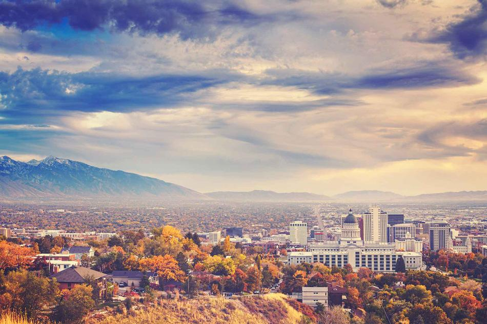 A view of the Salt Lake City skyline.