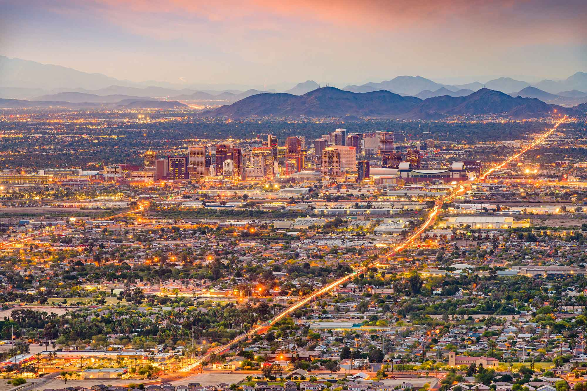 A view of the Phoenix skyline.