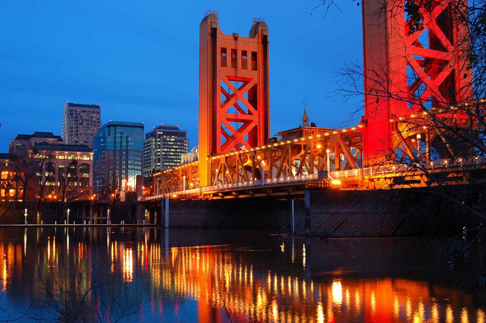 A photo of the city of Sacramento.
