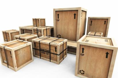 A wooden crate shipping overseas.